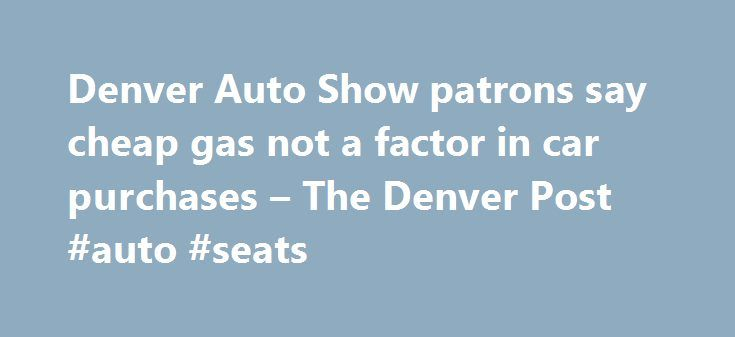"""Denver Auto Show patrons say cheap gas not a factor in car purchases – The Denver Post #auto #seats http://sweden.remmont.com/denver-auto-show-patrons-say-cheap-gas-not-a-factor-in-car-purchases-the-denver-post-auto-seats/  #denver auto show # Denver Auto Show patrons say cheap gas not a factor in car purchases p1.jpg"""" /% Ten-year-old Joshua Santos of Loveland takes the wheel of a 2015 Chevy Silverado 3500 High Country 4WD priced at $34,995 at the Denver Auto Show at the Colorado Convention…"""