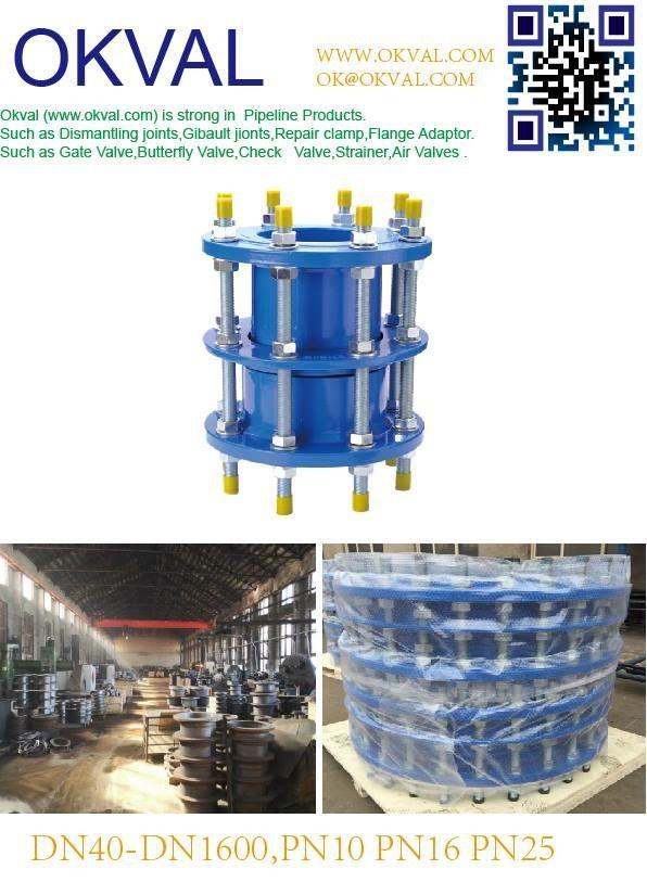 Dismantling joints PN6 PN10 PN16 PN25 DN 50 – DN 1600 Ductile iron