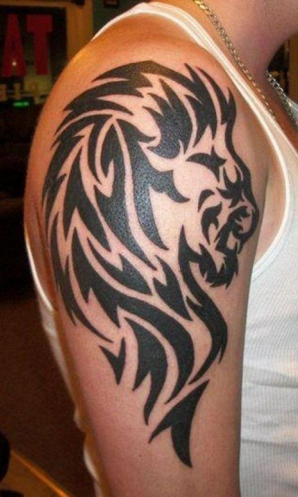 Tribal Lion Tattoo - 50 Examples of Lion Tattoo ...
