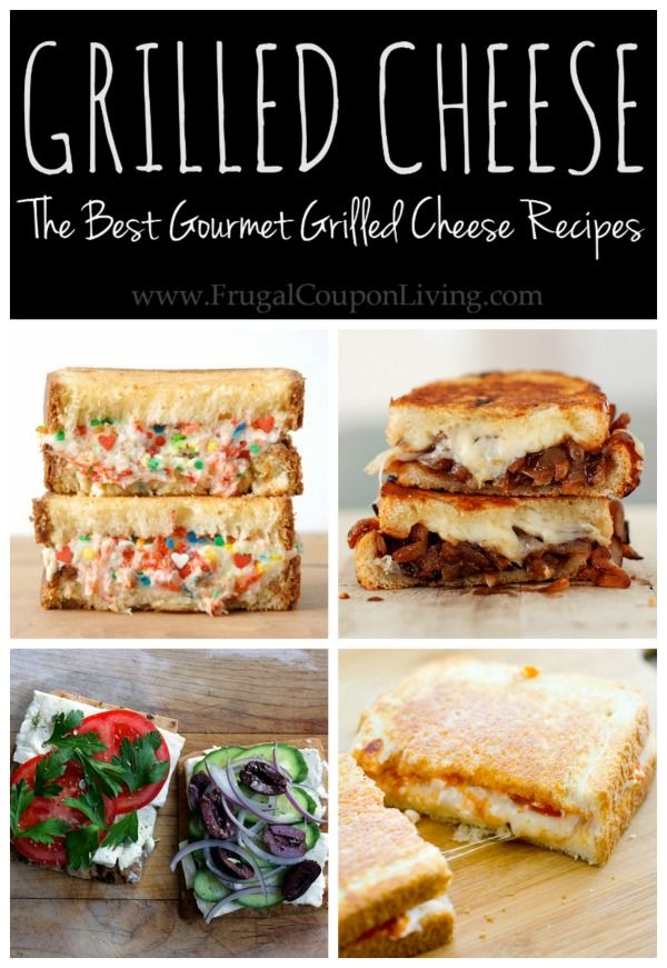 Creative Gourmet, Homemade Grilled Cheese Recipes with meat, fruit, glaze, veggies, and best of all Cheese!