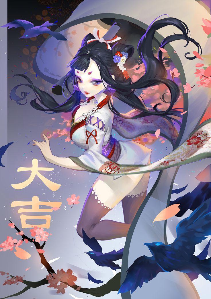 花鸟卷 Flowers and birds by  花弟 Huā dì   / http://www.pixiv.net/member_illust.php?mode=medium&illust_id=60764193