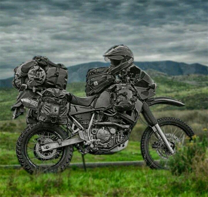 Mercenary: Murdered-Out KLR 650 #KLR650 #Mercenary #MercenaryGarage                                                                                                                            More