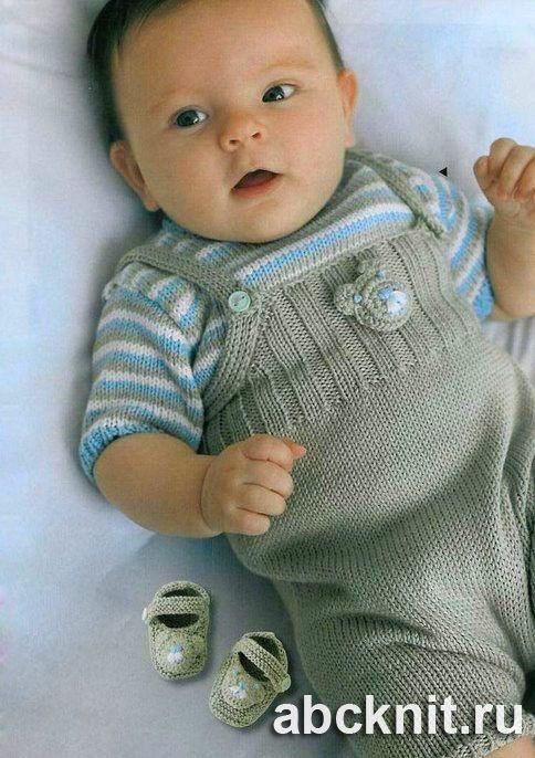 Комбинезон, распашонка, пуловер и пинетки для новорожденного   Вязание спицами и крючком – Азбука вязания