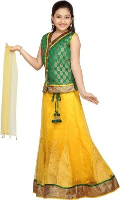 a9132602282b Aarika Girls Lehenga Choli Ethnic Wear Self Design Lehenga