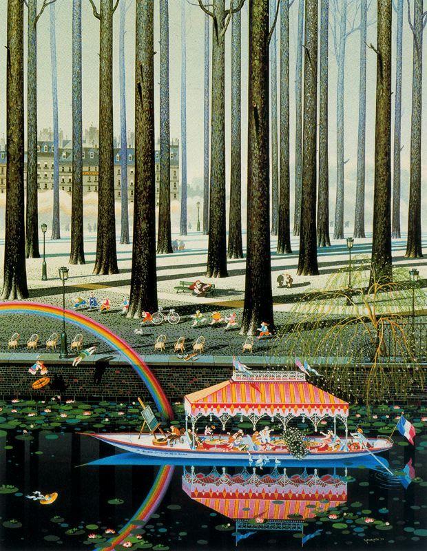 Hiro Yamagata |Rainbow, 1983 | Acrylic