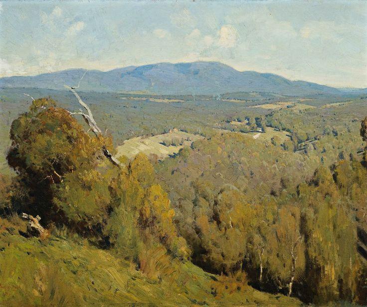 """Yarra Valley Landscape,"" Penleigh Boyd, 1918"