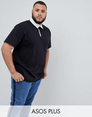 63638b26003 ASOS DESIGN Plus relaxed fit rugby polo