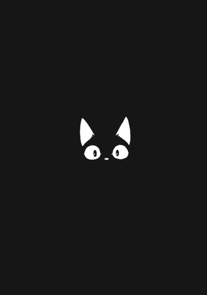 Just a weird cat hiding in the dark. I could see myself in it too.