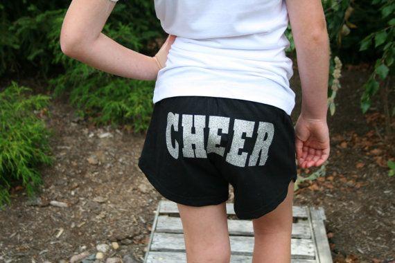 Polka Dot Megaphone and Glitter Cheer Shorts, Cheerleading Shorts, Cheerleader, Cheer Short, Cheerleading, Cheer Shorts