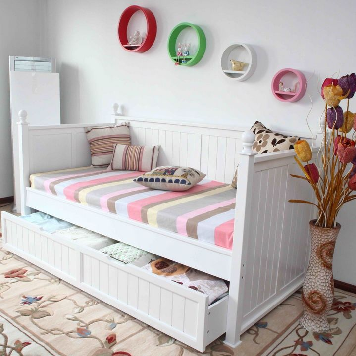 Single Size Day Bed with Wheel-Out Trundle Bed | Buy Kid's Beds | MyDeal