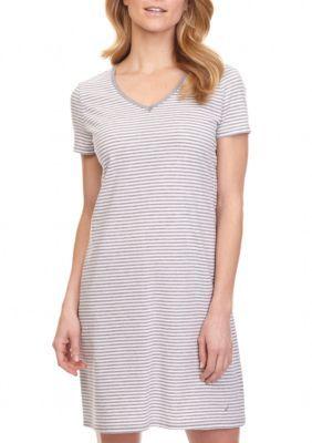 Nautica Girls' Anchor Stripe Chemise -  - No Size