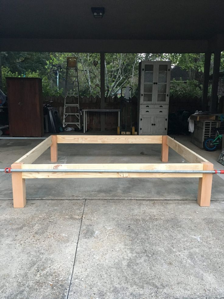 How to Make a DIY Headboard and Bed Frame in 2020 Diy