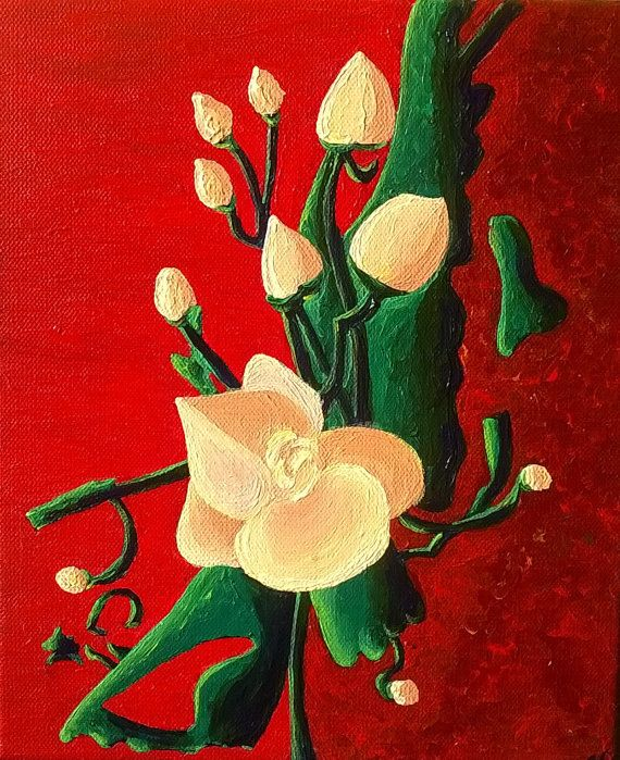 Still Life Acrylic Painting Art on Canvas by Sylchra, available on her Etsyshop ArtPaintingsAndDecor