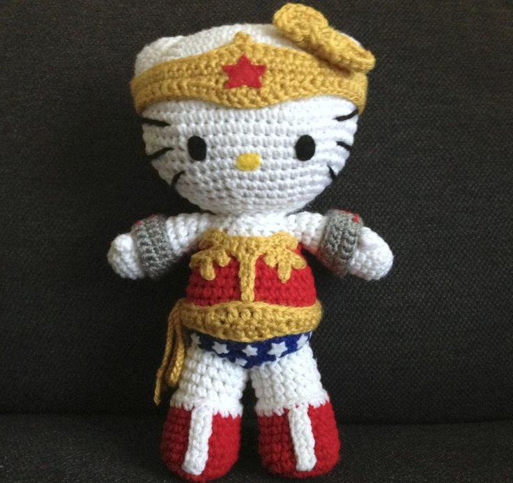 Wonder Woman ... by pawfectgifts | Crocheting Pattern - Looking for your next project? You're going to love Wonder Woman Inspired Kitty Doll by designer pawfectgifts. - via @Craftsy