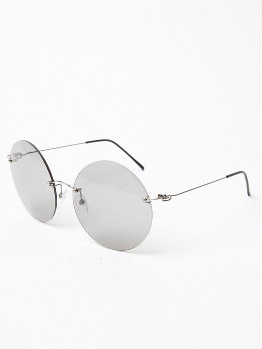 Style: Rimless Round Eyeglasses Style / Fashion ...