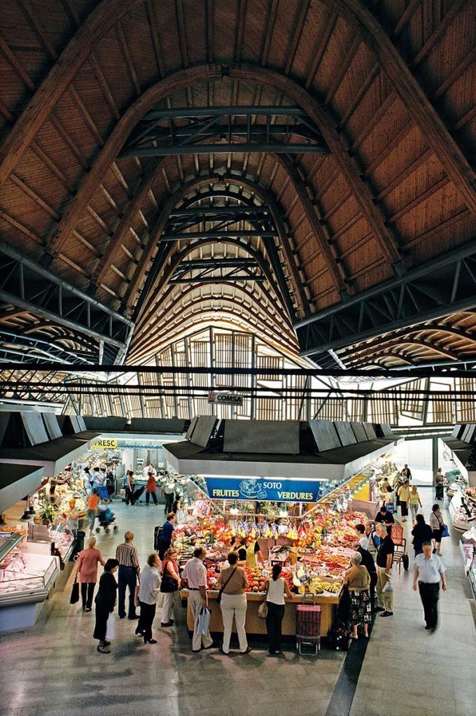 Рынок Санта Катарина, Барселона, Испания. 1997–2005, Enric Miralles & Benedetta Tagliabue EMBT
