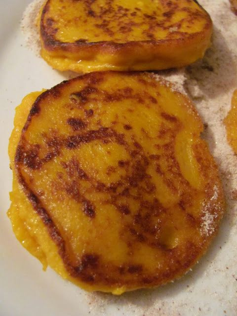 Pumpkin Fritters with cinnamon & powdered sugar