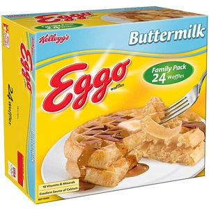 Kelloggs Buttermilk Eggo Waffles, 24 count, 29.6 oz