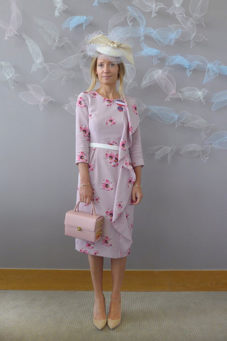 """It's a sunny start for day two of Royal Ascot, and today I'm wearing a Suzannah dress, an Awon Golding hat, Âme Moi box bag and Jimmy Choo shoes.""   - HarpersBAZAAR.co.uk"