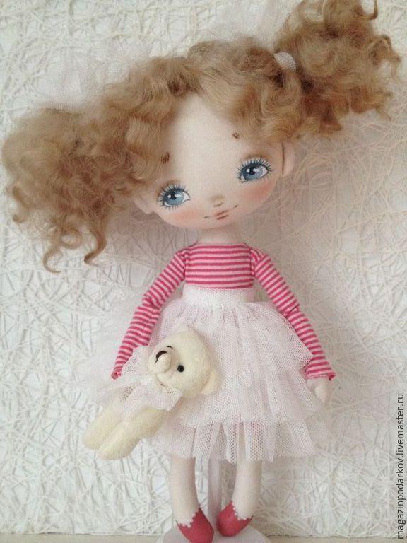 Купить Кукла малышка Кира - розовый, кукла ручной работы, кукла в подарок…