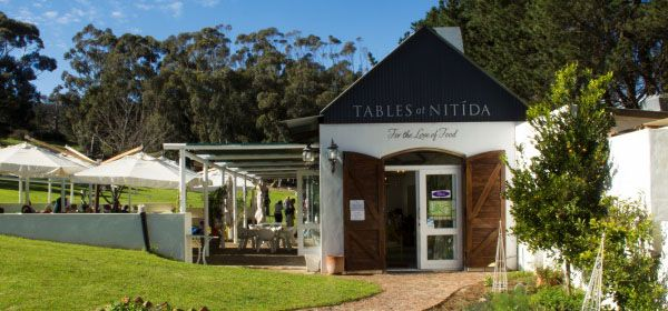 Nitida. Tables at Nitida and Cassia. Durbanville
