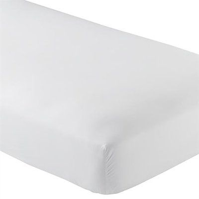 Alwyn Home Wrinkle Resistant 200 Thread Count Fitted Sheet Size: California King, Color: White