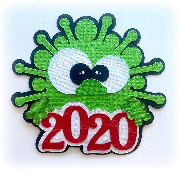 Paper Piecing Die Cut Virus 2020 Die Cut Premade Titles Scrapbooking