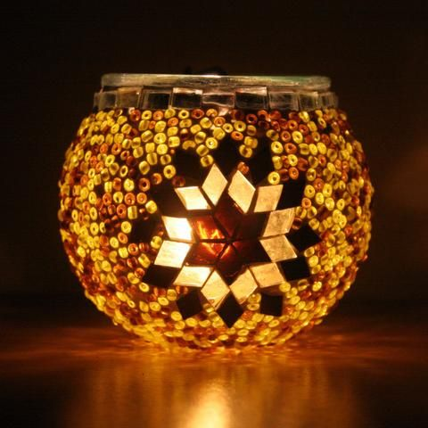 Star Turkish Mosaic Tea Light Holder