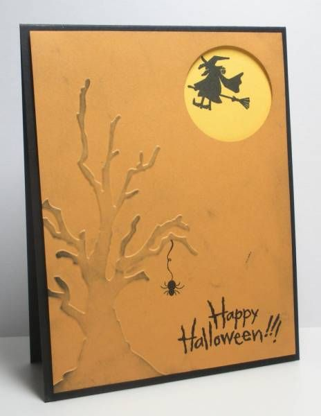 FS270 Happy Halloween by die cut diva - Cards and Paper Crafts at Splitcoaststampers -  an easel card