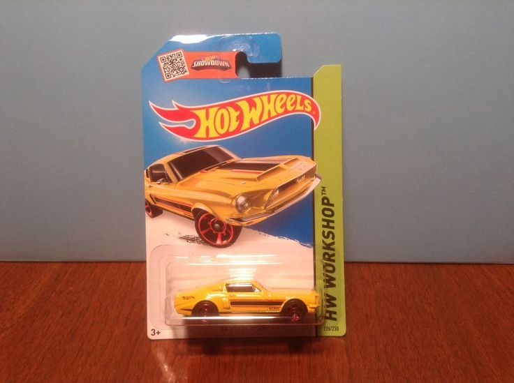 Hot Wheels '68 Shelby GT500 #226 Muscle Mania 2015 Yellow 1968 Ford Mustang #HotWheels #Ford