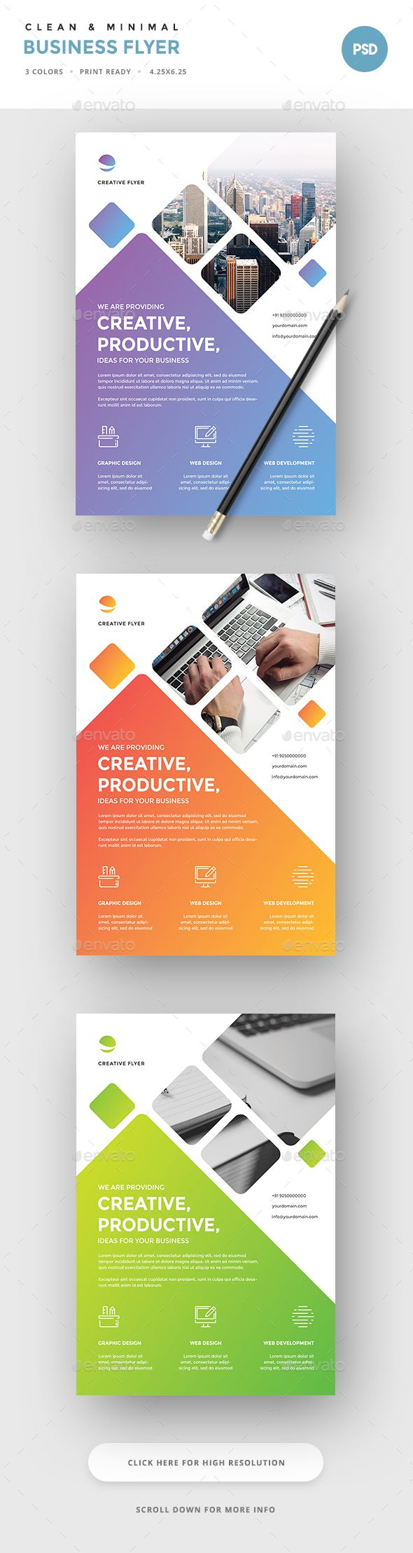 Exceptional Corporate Flyer Template PSD