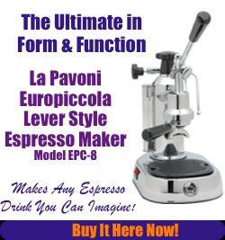 This is La Pavoni... is everything I love about espresso making... FORM & FUNCTION! Beautiful!   La Pavoni EPC-8 Espresso Machine