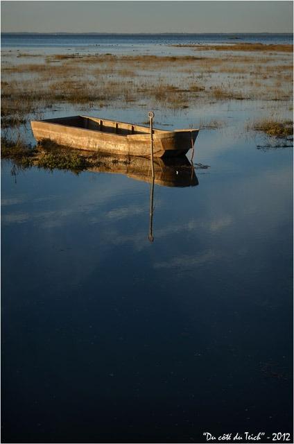 Barque à Gujan-Mestras, à marée montante