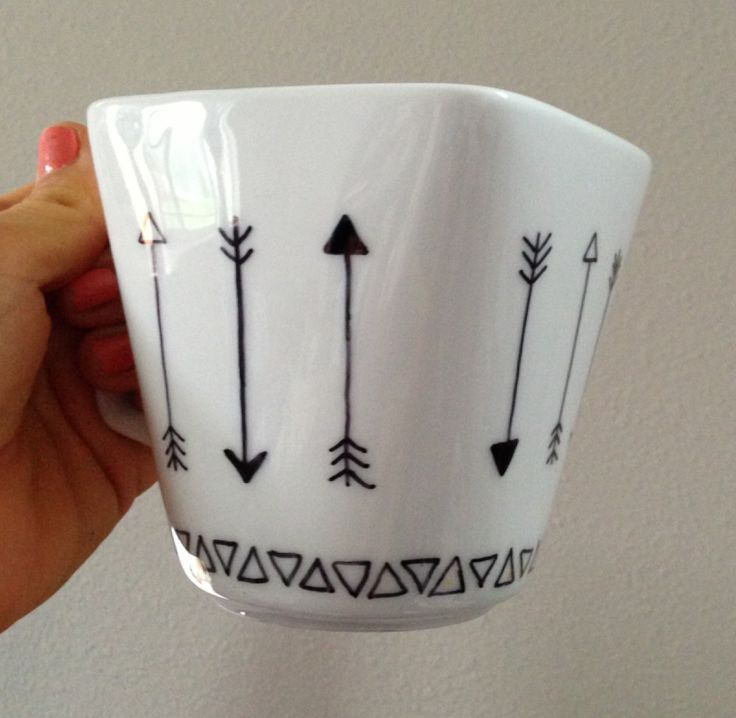 Finished DIY project — Decorating my own mug with a sharpie :-) (Gave this one to a friend)  sharpie mug DIY