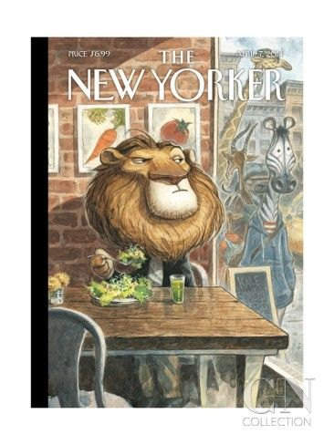 A New Leaf - The New Yorker Cover, April 7, 2014 Premium Giclee Print