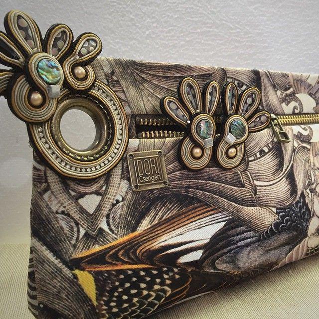 Wings clutch bag & earrings by Dori Csengeri