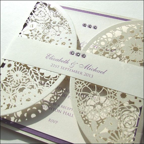 Doily Style Laser Cut Wedding Invitation by Wedding Paraphernalia, £3.50