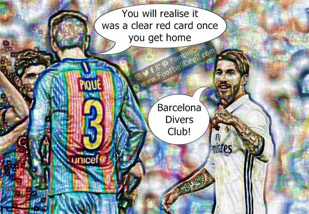 Gerard Piqué Says Sergio Ramos will Realise it was a Clear Red Card Once He Gets Home #Pique #Ramos #Messi #ElClasico #Zidane #RealMadrid #Barcelona #HalaMadrid #FCBLive #ForçaBarça #LaLiga #CR7 #CL #Suarez #Ronaldo #Neymar #Madrid #Barça #FCBarcelona #Bale #Jokes #Comic #Laughter #Laugh #Football #FootballDroll #Funny