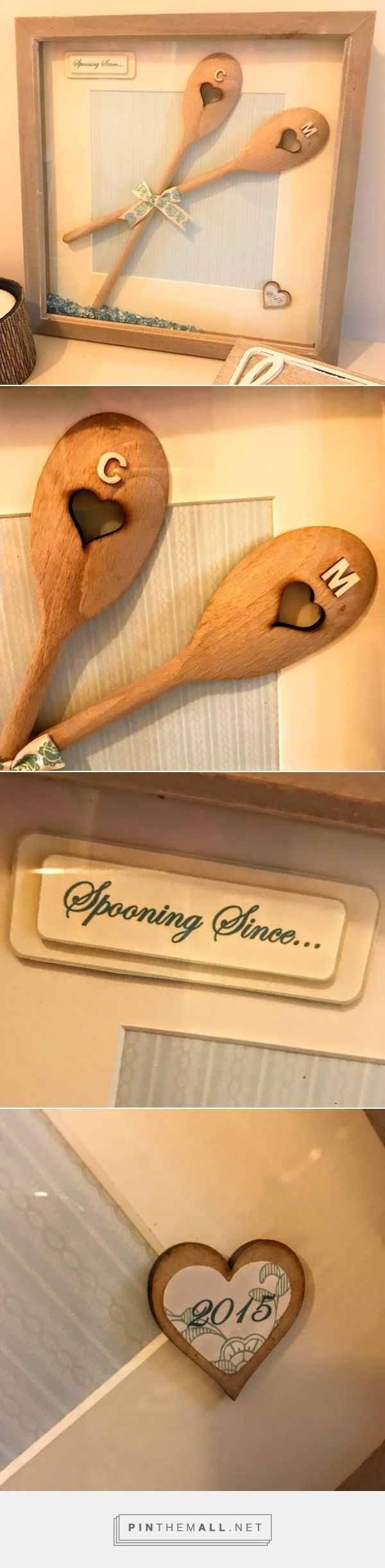 Personalised wooden spoon frame Personalised spooning frame Spooning since Personalised engagement gift Wedding gift Anniversary gift
