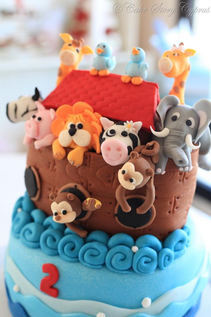 Noah of Ark Birthday cake...Nuh'un gemisi doğum günü pastası