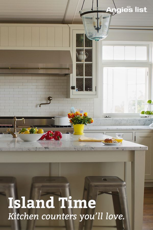 Get the latest on popular kitchen designs, fun island ideas and how to realize your kitchen counter's full potential.