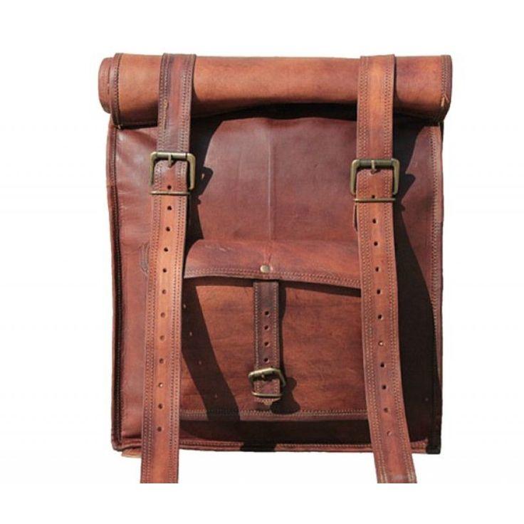 "PLH3 VINTAGE PAX™ Leather backpack. Handmade 22"""