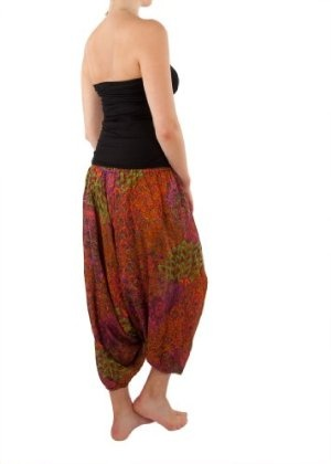 Peacock harem trousers. So comfy and pull up into a jumpsuit!