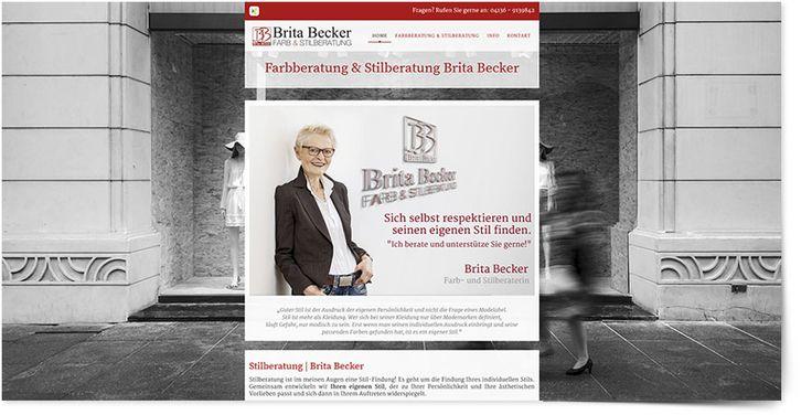 Internetseite Farb- und Stilberatung Brita Becker
