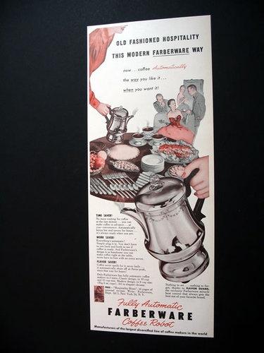 Farberware Coffee maker ,1952