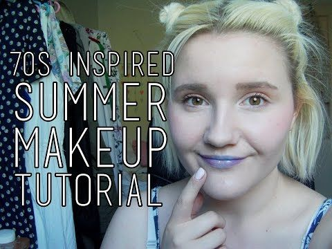 70s inspired summer makeup tutorial! [Eng subs] - YouTube