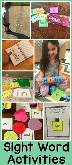 Sight Word Activities for Parents to Use with Kids at Home. Fun sight word games!
