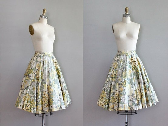 lovely skirt..reminds me a little of the curtain-clothes in Sound of Music