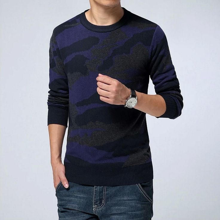 2017 Camouflage Jumper Autumn Winter New Men's Fashion Casual Round Knitwear Sweater / Men's Business Warm Pullovers Sweater