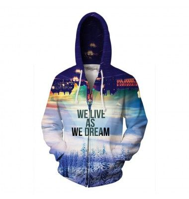 "Originally, this quote by Joseph Conrad said ""We live as we dream - alone."". We found it a tiny bit too depressing, so we came up with a better version. Dream big and live big wearing this jumper. www.bittersweetparis.com"